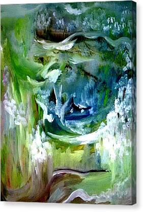 The Circle Of Seasons Canvas Print by Madina Kanunova