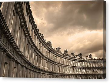 The Circus Bath England  Canvas Print by Mal Bray