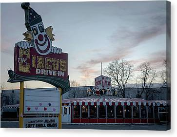 Canvas Print featuring the photograph The Circus Drive In Wall Township Nj by Terry DeLuco