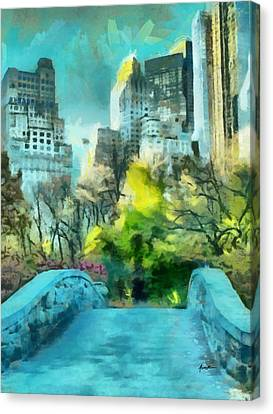 The City Canvas Print by Anthony Caruso