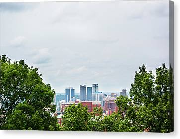 Canvas Print featuring the photograph The City Beyond by Shelby Young