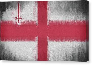 Canvas Print featuring the digital art The City Flag Of London by JC Findley
