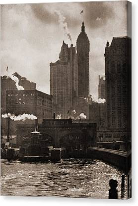 Staten Island Ferry Canvas Print - The City Of Ambition 1910, By Alfred by Everett