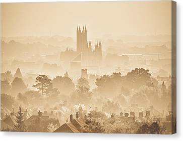 The City Of Canterbury Canvas Print by Ian Hufton