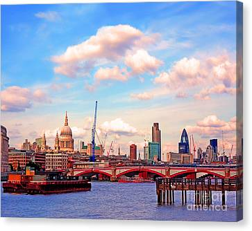 The City Of London By Day Canvas Print