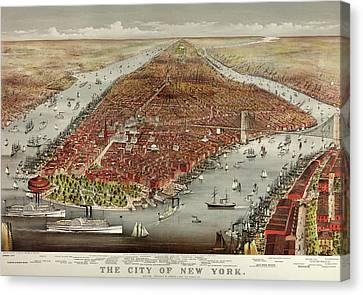 The City Of New York Canvas Print by American School