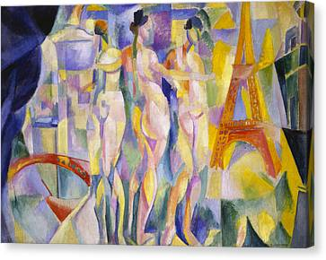 The City Of Paris Canvas Print by Robert Delaunay