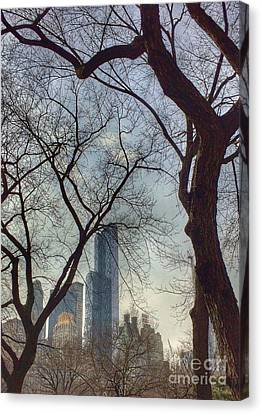 The City Through The Trees Canvas Print