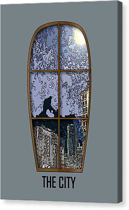 The City Window Canvas Print by Simone Pompei