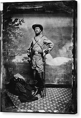 The Civil War, Colonel John S. Mosby Canvas Print by Everett