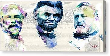 Canvas Print featuring the mixed media The Civil War by Lisa McKinney
