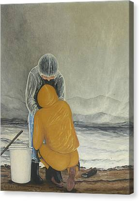 The Clamdigger Canvas Print by Georgette Backs
