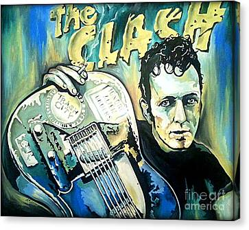 The Clash Joe Strummer Canvas Print by Amy Belonio