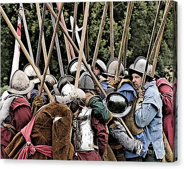 The Clash Of The Pikemen Canvas Print by Linsey Williams
