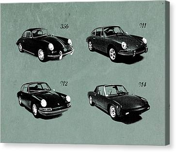 Classic Porsche 356 Canvas Print - The Classic Porsche Collection by Mark Rogan