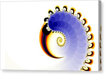 Canvas Print featuring the digital art the Claw by Fran Riley