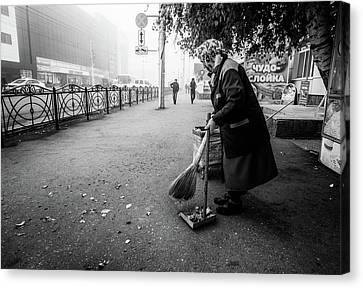 Canvas Print featuring the photograph The Cleaner Of Leaves by John Williams