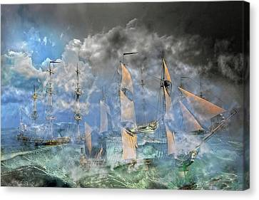 The Cleggan Bay Storm 1927 Canvas Print