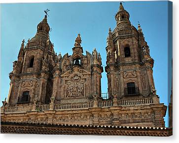 Canvas Print featuring the photograph The Clerecia Church In Salamanca by Farol Tomson