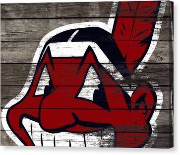The Cleveland Indians 3c    Canvas Print by Brian Reaves