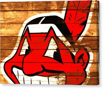 The Cleveland Indians 3e    Canvas Print by Brian Reaves