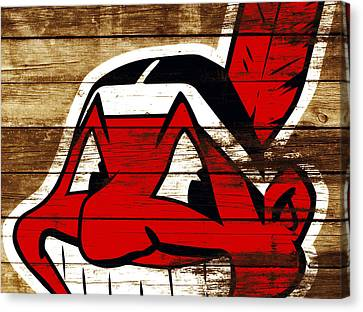 The Cleveland Indians 3f    Canvas Print by Brian Reaves