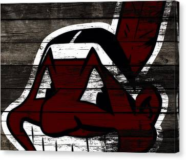 The Cleveland Indians 3h    Canvas Print by Brian Reaves