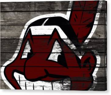 The Cleveland Indians 3i    Canvas Print by Brian Reaves