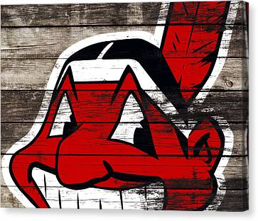 The Cleveland Indians 3j    Canvas Print by Brian Reaves
