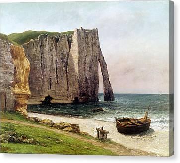 The Cliffs At Etretat Canvas Print