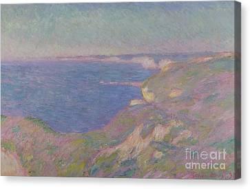 The Cliffs Near Dieppe Canvas Print by Claude Monet