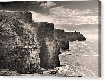 The Cliffs Of Moher Canvas Print by Robert Lacy