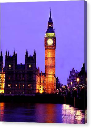 The Clock Tower Aka Big Ben Parliament London Canvas Print
