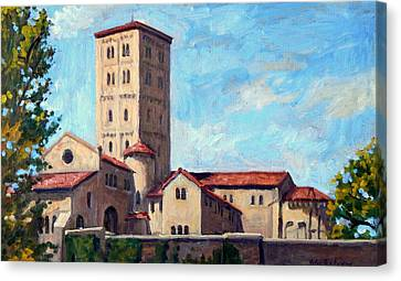 The Cloisters Sunny New York City Canvas Print by Thor Wickstrom
