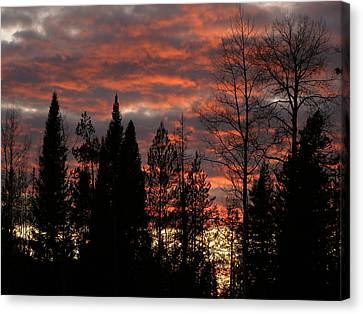 Canvas Print featuring the photograph The Close Of Day by DeeLon Merritt