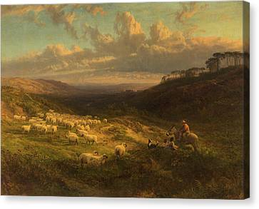 The Closing Day, Scene In Sussex Canvas Print