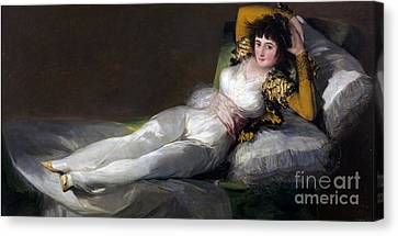 Clothed Canvas Print - The Clothed Maja  by Celestial Images