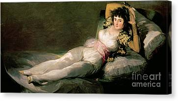 Clothed Canvas Print - The Clothed Maja by Goya