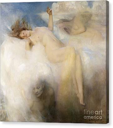 The Cloud Canvas Print by Arthur Hacker