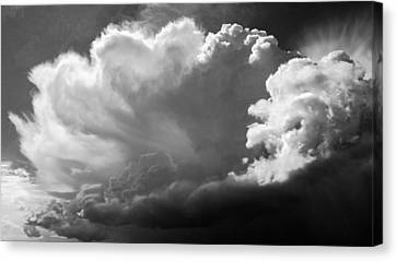 Canvas Print featuring the photograph The Cloud Gatherer by John Bartosik