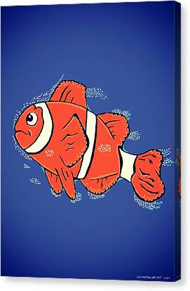 Clown Fish  Canvas Print by CJ Shriver