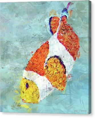Blue Grapes Canvas Print - The Clown Fish by Ken Figurski
