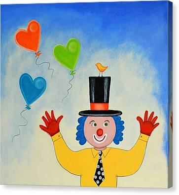 The Clown Canvas Print by Graciela Bello