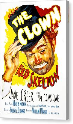 1950s Portraits Canvas Print - The Clown, Red Skelton, 1953 by Everett