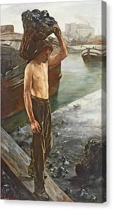 Saint-martin Canvas Print - The Coal Carrier by Henri Gervex