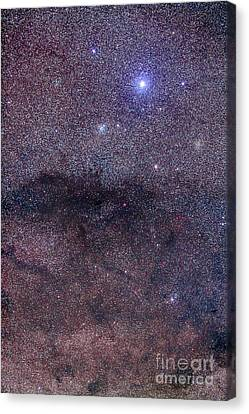 The Coalsack And Jewel Box Cluster Canvas Print by Alan Dyer