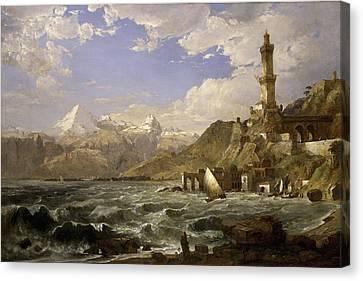 The Coast Of Genoa Canvas Print by Jasper Francis