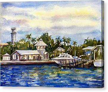 The Coast Of Nassau Canvas Print