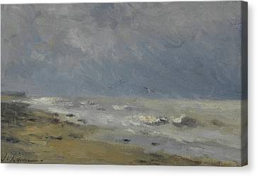 The Coast Of Normandy Canvas Print by Stanislas Victor Edouard Lepine