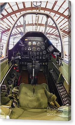The Cockpit Of A P-51 Mustang Canvas Print by Rob Edgcumbe